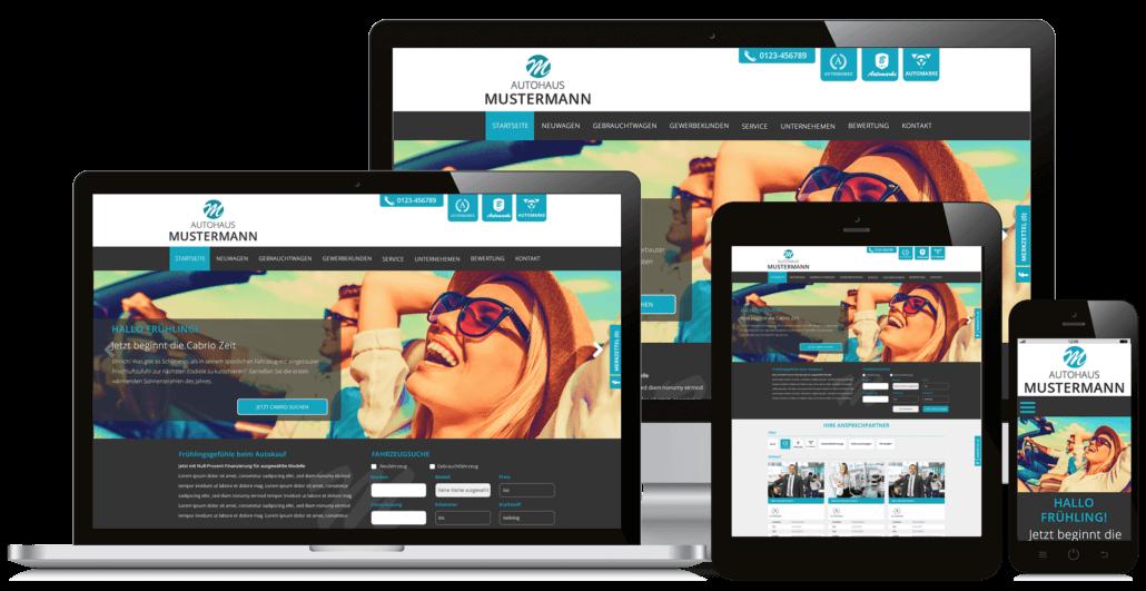 Responsives Autohaus Webdesign